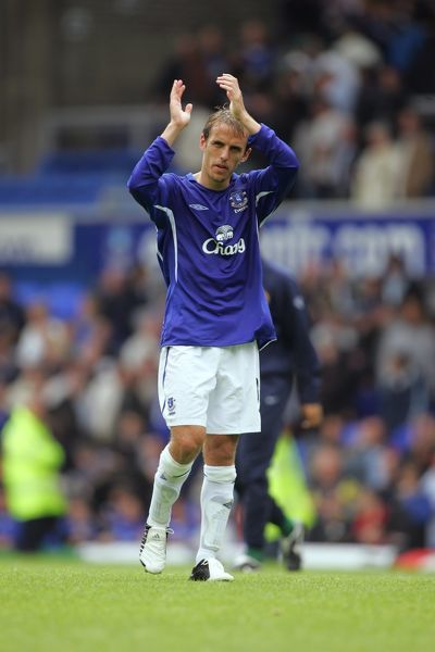 Phil Neville thanks fans after his Premiership debut for Everton