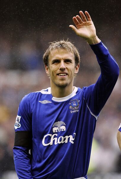 Football - Everton v West Bromwich Albion FA Barclays Premiership - Goodison Park - 7/5/06 Everton's Philip Neville waves to the crowd Mandatory Credit: Action Images / Ryan Browne Livepic
