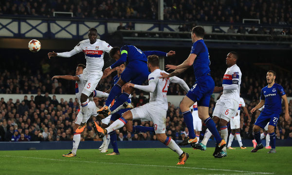 Everton's Ashley Williams scores his side's first goal of the game during the UEFA Europa League, Group E match at Goodison Park, Liverpool