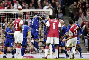 Arsenal v Everton 28/10/06 Robin Van Persie scores the first goal for Arsenal