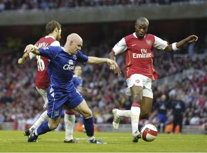 Arsenal v Everton Arsenal's William Gallas and Everton's Andy Johnson
