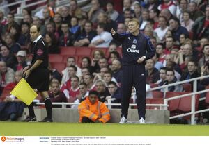 Arsenal v Everton - Everton manager David Moyes during the match
