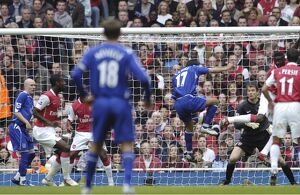 Arsenal v Everton Tim Cahill scoring the first goal for Everton Mandatory Credit