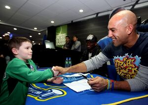 Everton FC Signing Session - Tim Howard and Louis Saha - Goodison Park