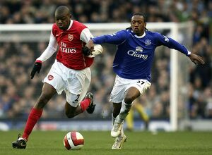 Everton v Arsenal - Manuel Fernandes and Arsenal's Abou Diaby