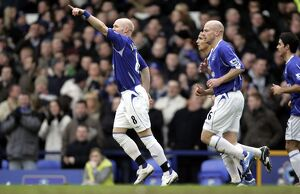Everton v Blackburn Rovers Andrew Johnson celebrates after scoring
