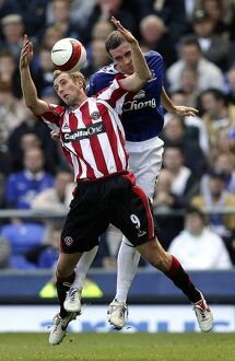 Everton v Sheffield United - 21/10/06 David Weir of Everton and Rob Hulse of Sheffield