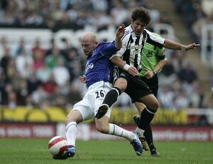 Everton's Lee Carsley and Newcastle's Belozoglu Emre