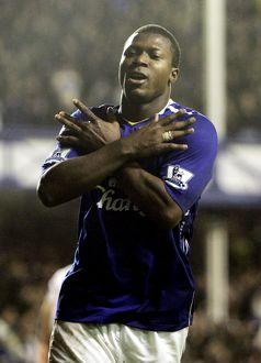 Football - Everton v Fulham Barclays Premier League - Goodison Park - 8/12/07 Yakubu