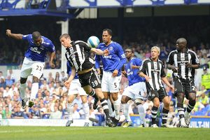 Football - Everton v Newcastle United Barclays Premier League - Goodison Park - 11/5/08 Everton's Yakubu scores his sides first goal Mandatory Credit: Action Images / Keith Williams Livepic NO ONLINE/INTERNET USE WITHOUT A LICENCE FROM THE FOOTBA