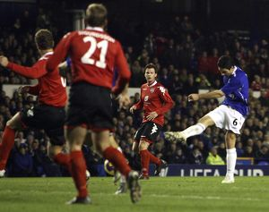 Football - Everton v SK Brann Bergen UEFA Cup Third Round Second Leg - Goodison Park
