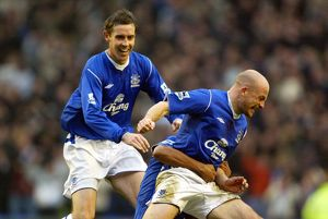 Lee Carsley celebrates scoring the derby winner