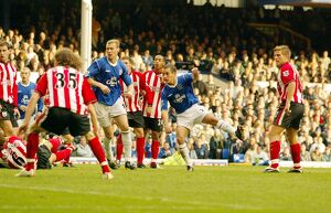 Leon Osman gives Everton the lead on 88 minutes
