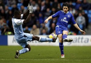 Manchester City v Everton - Nuno Valente and Manchester City's Micah Richards