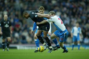 Marcus Bent shrugs off a challenge