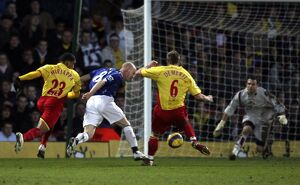 Watford v Everton - Andrew Johnson goes down in the penalty area to win a penalty