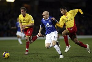 Watford v Everton - Andy Johnson in action