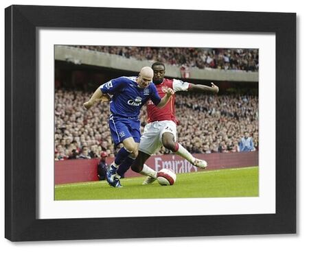 Arsenal v Everton Arsenal's Johan Djourou and Everton's Andy Johnson in action