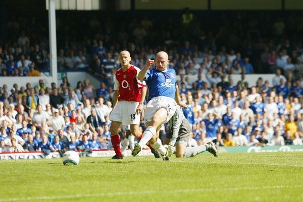 15 08 04 Job No 04081501 Barclays Premiership Season 04-05 Everton v Arsenal Goodison Park Key Moments Lee Carsley Goal © Mooney Photo Limited and Everton Football Club