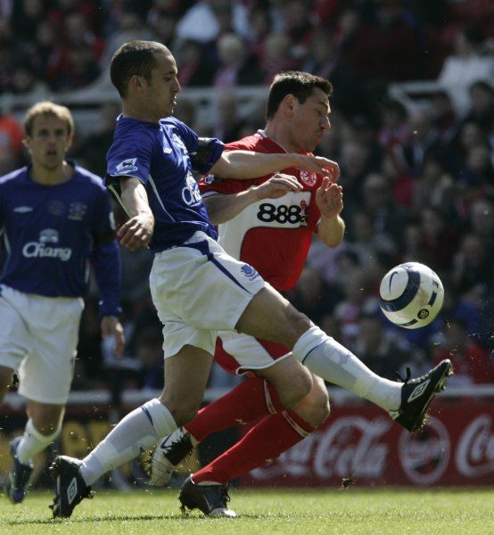 Leon Osman. Football - Middlesbrough v Everton FA Barclays Premiership