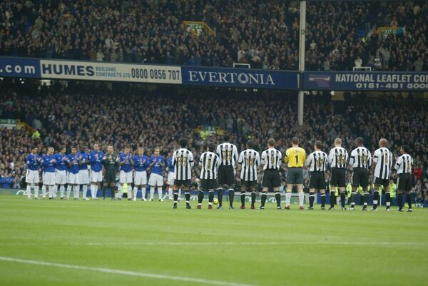 Paying Respects. Everton and Newcastle pay their respects to George Best