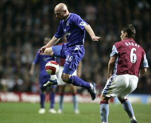 Aston Villa v Everton Lee Carsley in action against Gareth Barry