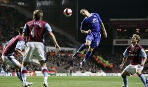 Aston Villa v Everton Leon Osman in action