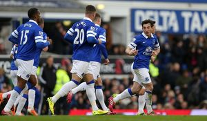 season 2013 14/premier league everton 3 v swansea city 2 goodison park/barclays premier league everton v swansea city