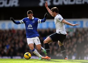season 2013 14/premier league tottenham hotspur 1 v everton 0 white hart lane/barclays premier league tottenham hotspur v