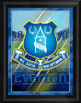Everton Framed Crest Art Print