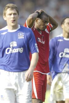 Everton v Charlton Athletic Darren Bent at the end dejected