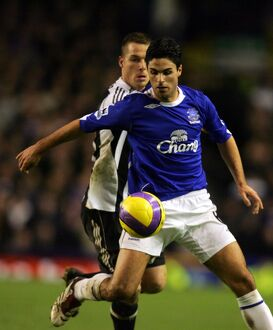 Everton v Newcastle United - Mikel Arteta and Scott Parker