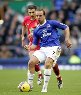 players staff/andy van der meyde/football everton v blackburn rovers fa barclays