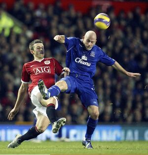 players staff/lee carsley/football manchester united v everton fa barclays