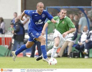 players staff/andy van der meyde/football northern ireland xi v everton pre