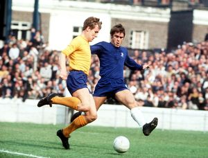 Joe Royle in action against Chelsea
