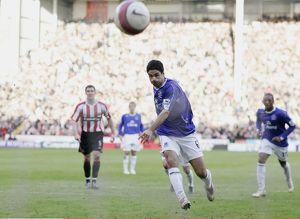Sheffield United v Everton Mikel Arteta scores the first goal for Everton