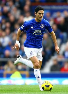 players staff/mikel arteta/soccer barclays premier league everton v stoke