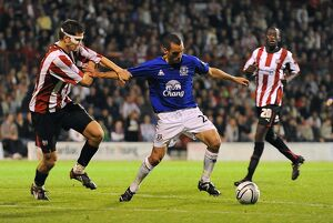 current players staff/leon osman/soccer carling cup round brentford v everton