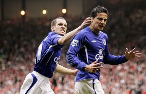 Tim Cahill and Leon Osman